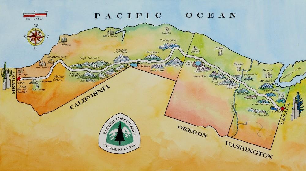 Susan Abbott - PCT Map