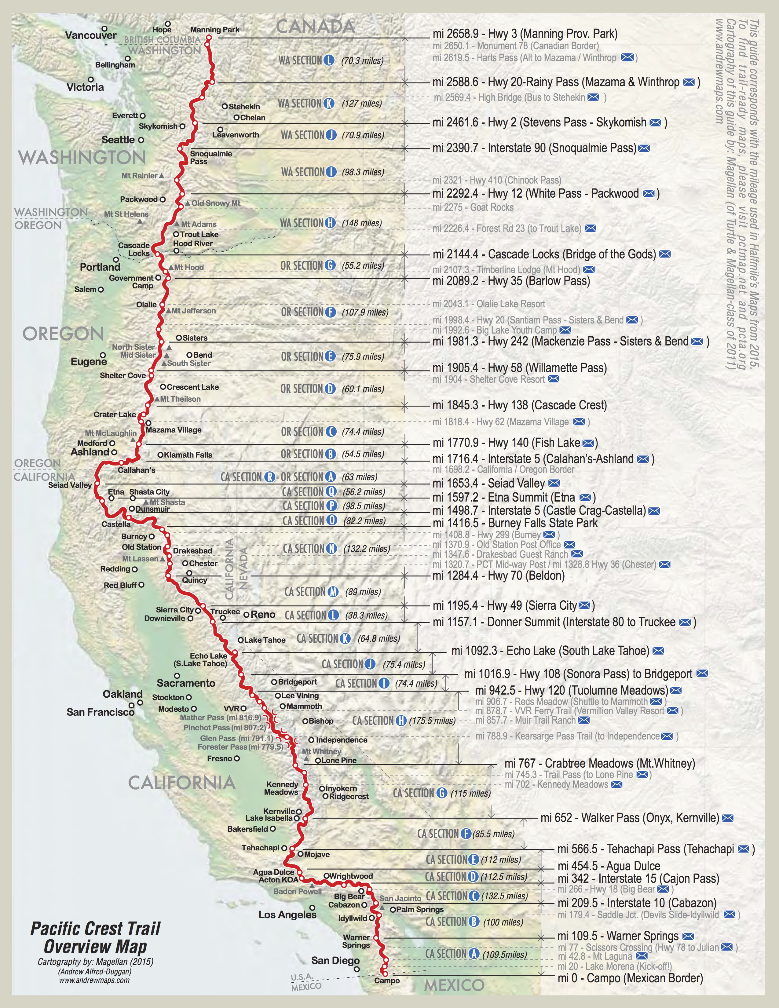 Detailed PCT Maps – Derek & Caitlin's 2015 Pacific Crest Trail Hike